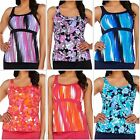 Denim & Co. Beach Tankini Swimsuit TOP ONLY~A275174