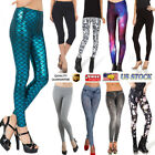 Women Printed Pencil Stretchy Yoga Leggings Gym Stretch Pant