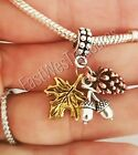 Fall Autumn Thanksgiving Maple Leaf Charm pendant for bracelet necklace-European