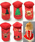 Pet Dog Cat Christmas Tree Clothes Puppy Cat Hoodie Coat Xmas Winter Warm Outfit