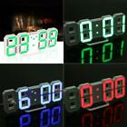Modern Digital LED Wall Desk Table Clock 24 12-Hour Display Alarm Snooze
