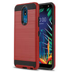 for LG K40 / K30, [Protech Series] Phone Case Shockproof Cover +Tempered Glass