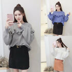 Trendy Warm Women Knit Stretch Crewneck Pullover Loose Casual Sweater Top Blouse
