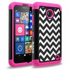 Nokia Lumia 635/630 Case, Wave Pattern Print Dual Layer Shockproof Bumper Case