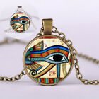 Women Egyptian The Eye Of Horus Sweater Pendant Necklace Special Glass Jewelry