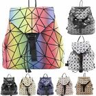 Ladies New Drawstring Prism Geometric Design Backpack Rucksack