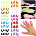 10 Pcs Reusable Plastic Acrylic Nail Art Gel Polish Remover Wrap Cleaner N98B 01
