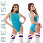 Orig. JAPAN Import N1001 REALISE SECONDSKIN Badeanzug swimsuit transparent blau