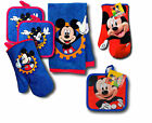 Disney Mickey Mouse Clubhouse Kitchen Set Oven Mitt, Pot Holder, Towel, Red/Blue