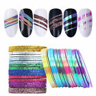where can you buy nail tape - 1/2/3mm Matte Glitter Nail Striping Tape Line Colorful Nail Art Adhesive Sticker