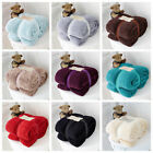 LUXURY SUPER SOFT TEDDY BEAR FUR FLEECE BLANKET SOFA BED THROW - SIZE & COLOURS