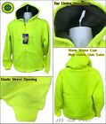 High Visibility Safety Hoodie Jacket Winter Fur Lining Warm Insulation - Lime