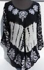 Shoreline Top Tie-Dye Embroidered Loose Women's One Size Fits Most