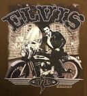 BRAND NEW LICENSED ELVIS ON MOTORCYCLE SHIRT - VARIOUS SIZES (*10)