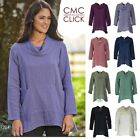 CMC by CLICK USA 1224 Rayon/Nylon GLOW A-Line COWL 2-Pocket TUNIC Top  2017 FALL $38.35 USD on eBay