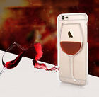 For Apple iPhone 5/5S/6/6S 3D Liquid Quicksand Wine Cocktail Bottle Case Cover