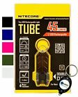 Nitecore Tube 45 Lumens USB Rechargeable Mini LED Flashlight w/ Keychain Light