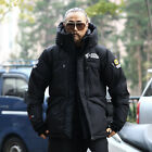 ByTheR Men's Winter Extreme Sports Waterproof Zipper Covered Padding Jacket