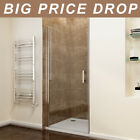 Frameless Pivot Door Shower Enclosure Tray Hinges Cubicle 6mm Glass Screen Waste