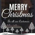 Merry Christmas Window Sticker Shop Display Snowflakes Trees Vinyl Stickers