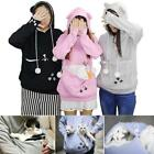 Unisex Kangaroo Pet Dog Cat Holder Carrier Coat Pouch Large Pocket Hoodie Tops