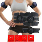 Muscle Training Body Six pack ABS Trainer Electrical Muscle Simulation Black
