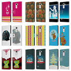 HEAD CASE DESIGNS MIX CHRISTMAS COLLECTION LEATHER BOOK CASE FOR LG STYLUS 2