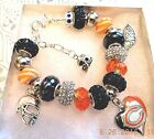 NFL CHICAGO BEARS Crystal Team Charm Bracelet  MITCH TRUBISKY  FREE SHIPPING!!! $32.49 USD on eBay