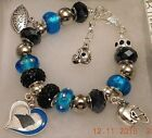NFL CAROLINA PANTHERS Crystal Charm Bracelet   CAM NEWTON FREE SHIPPING!!!