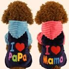 Puppy Pet Dog Clothes Hoodie Winter Sweatshirt Shirt Pet Coat Jacket US Seller