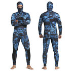 Mens Camo 3MM Two-Piece Wetsuit Surf Scuba Diving Spearfishing Swimming Suit