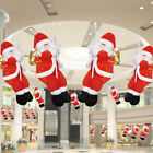Santa Claus Climbing Rope Christmas Home Ceiling Decoration Hanging Pendant Toy