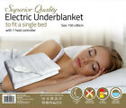 Electric Underblanket for Single or Double Bed Comfortable and ultra durable