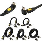 4K HDMI V2.0 Male To Female Flat Cable + Adapter For PS3 HDTV Projector Laptop