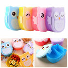 US Stock Cartoon Owl Lunch Boxs Food Fruit Storage Container Portable Bento Box