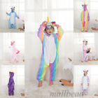 Child Rainbow Unicorn Unisex Kigurumi Animal Cosplay Costume Onesie1 Pajamas Hot