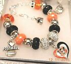 NFL CINCINNATI BENGALS Crystal European Team Charm Bracelet   FREE SHIPPING!!! on eBay