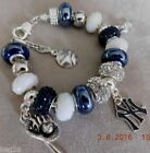 MLB NEW YORK YANKEES Crystal European Team Charm Bracelet FREE SHIPPING!!! on Ebay