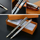 2017 Hero 9315 Metal China Classic Fountain Pen Medium Fine Nib 0.5mm Box Gifts