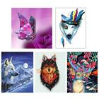 5D DIY Wolf Deer Animal Butterfly Diamond Painting Embroidery Cross Stitch Decor