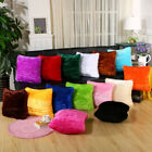 New Home Decorative Decoration Plush Square Pillow Case Fur Fluffy Cushion Cover