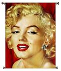 Marilyn Monroe Vintage Picture on Large Canvas Hung on Copper Rod, Ready to Hang