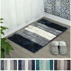 Microfibre Soft Tufted Bath Mat Shades Design Non-Slip Rug Bathroom Shower