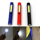 COB LED Pocket Pen Light Inspection Work Light Magnetic Torch Flashlight W/ Clip