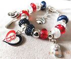 MLB BOSTON RED SOX Crystal European Team Charm Bracelet       FREE SHIPPING!!! on Ebay