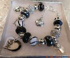MLB CHICAGO WHITE SOX Crystal European Team Charm Bracelet  FREE SHIPPING!!!