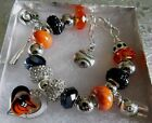 MLB BALTIMORE ORIOLES Crystal European Team Charm Bracelet  FREE SHIPPING!!! on Ebay