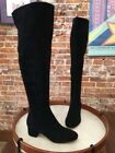 Marc Fisher Black Suede Instinct OTK Over the Knee Boots New