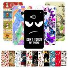 For HTC One M7 801E 802W Christmas Plastic Case Cover 2018 New Year Tower Cat