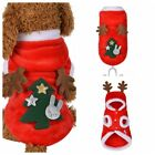 New Pet Dog Christmas Tree Clothes Puppy Cat Hoodie Coat Xmas Winter Warm Hooded